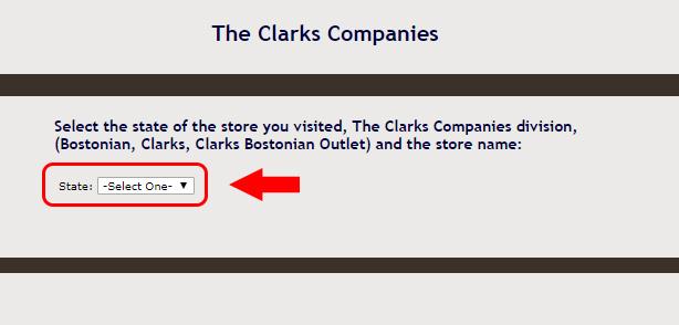 clarks customer survey store location