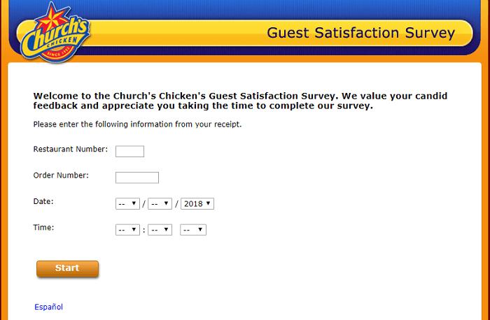 Church's Chicken Survey